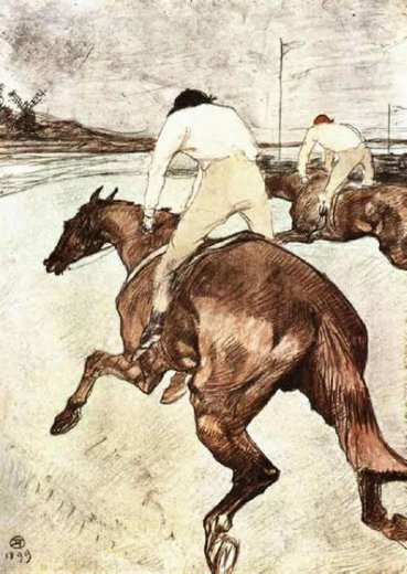 henri de toulouse lautrec the jockey paintings