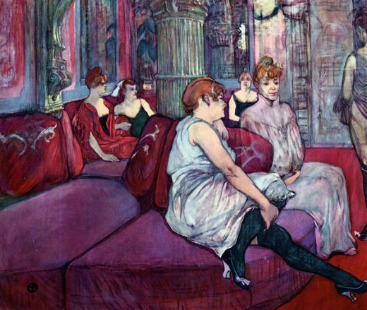 henri de toulouse lautrec the salon in the rue des moulins painting