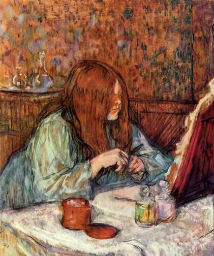 henri de toulouse lautrec woman at her toilette madame poupoule painting
