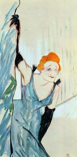 henri de toulouse lautrec yvette guilbert taking a curtain call paintings