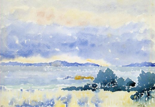 henri edmond cross land by the sea painting