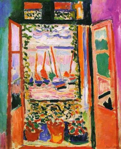 henri matisse open window at collioure paintings