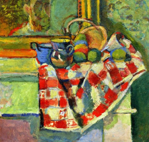 henri matisse still life checked tablecloth paintings