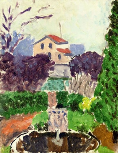 henri matisse the artist s garden at issy painting