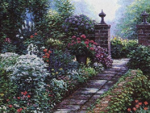 henry peeters fairfax gardens oil painting