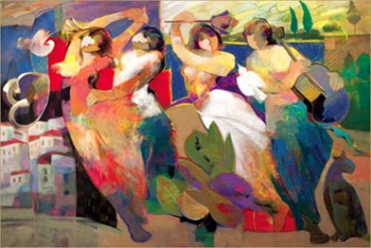 hessam abrishami twilight dance painting