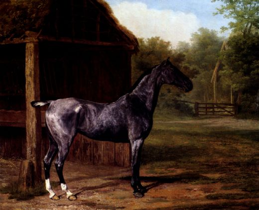 jacques laurent agasse lord rivers roan mare in a landscape painting