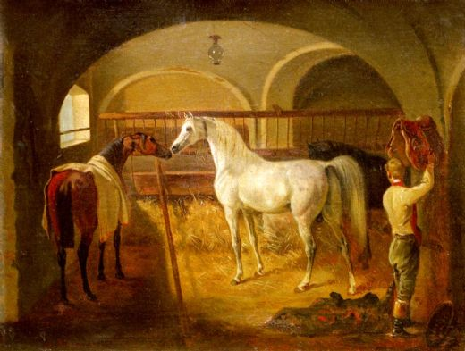 jacques laurent agasse stallinneres painting