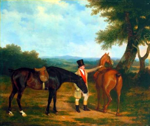 jacques laurent agasse two hunters with a groom painting