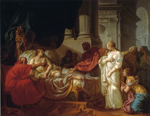 jacques louis david antiochus and stratonice paintings