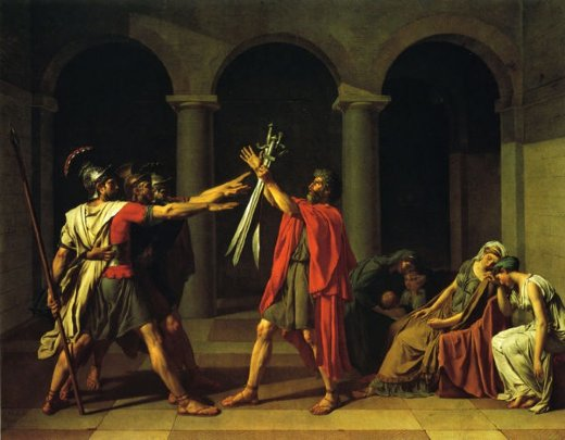 jacques louis david oath of the horatii painting