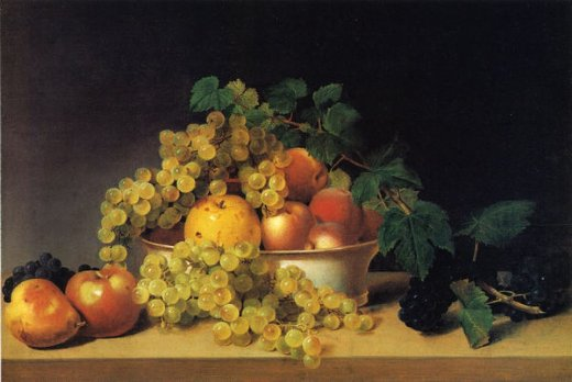 james peale still life with fruit on a tabletop paintings