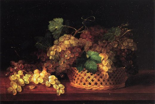 james peale still life with grapes painting