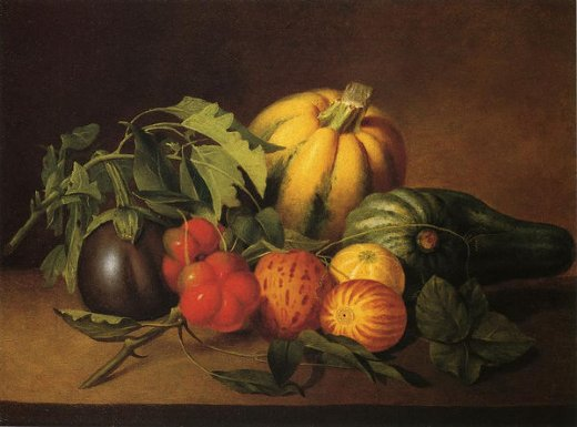 james peale vegetable still life oil painting