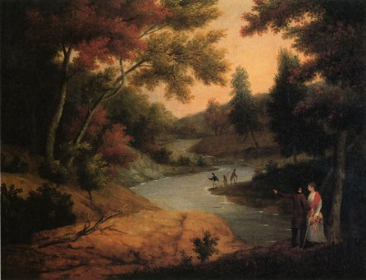 james peale view on the wissahickon painting
