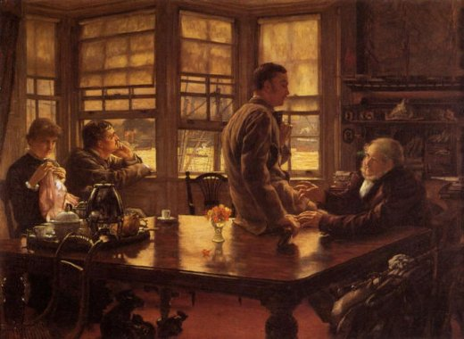 james tissot the prodigal son in modern life the departure painting