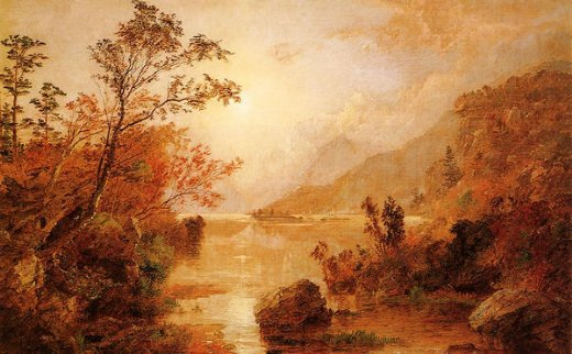 jasper francis cropsey autumn in the highlands of the hudson painting