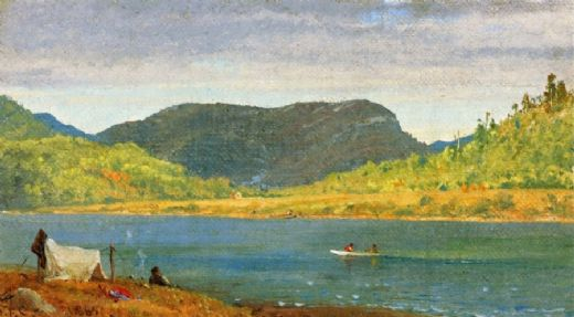 jasper francis cropsey greenwood lake oil painting