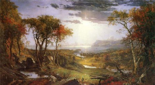 jasper francis cropsey herbst am hudson river posters