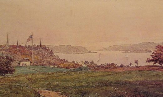 jasper francis cropsey looking north on the hudson posters