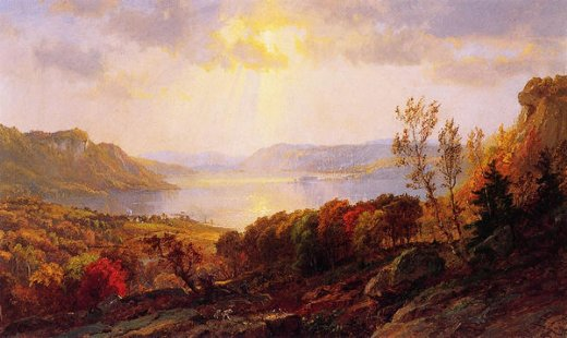 jasper francis cropsey on the hudson near west point painting