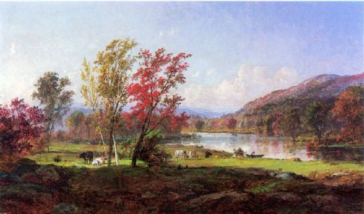 jasper francis cropsey on the saw mill river oil painting