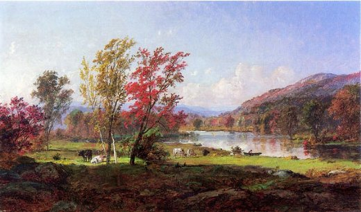 jasper francis cropsey on the saw mill river painting