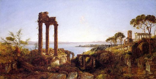 jasper francis cropsey overlookig the bay of naples posters