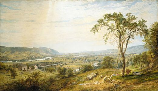jasper francis cropsey the valley of wyoming painting
