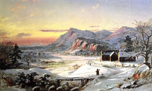 jasper francis cropsey winter scene north conway new hampshire painting