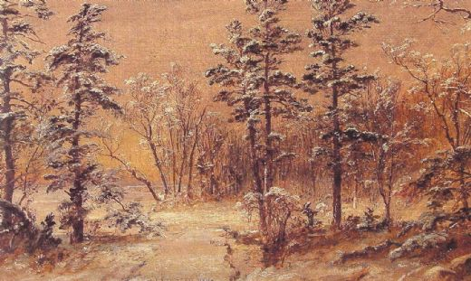 jasper francis cropsey winter woodland painting