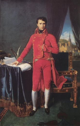 jean auguste dominique ingres bonaparte as first consul oil painting