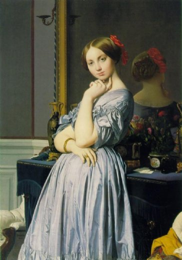 jean auguste dominique ingres louise de broglie countess d haussonville 1845 painting