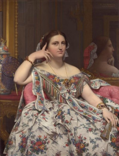 jean auguste dominique ingres mme. moitessier 1856 paintings