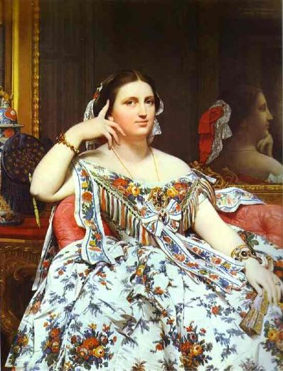 jean auguste dominique ingres mme moitessier painting