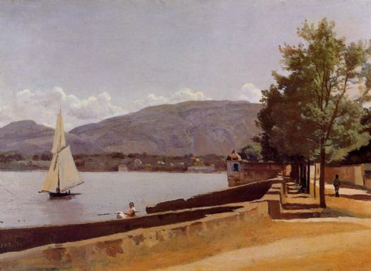 jean-baptiste-camille corot jean baptiste camille corot the quai des paquis in geneva painting