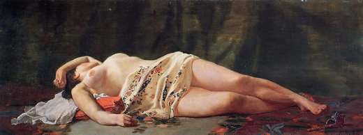 jean frederic bazille reclining nude paintings