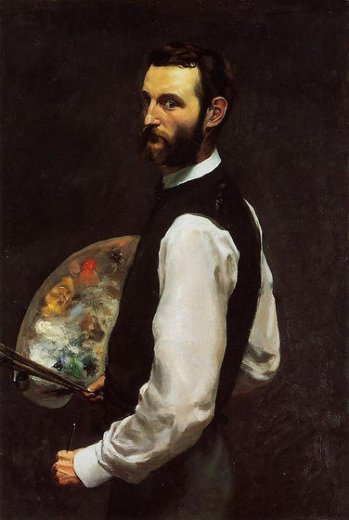 jean frederic bazille self portrait with palette paintings