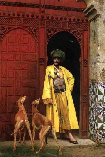 jean-leon gerome jean leon gerome an arab and his dogs posters