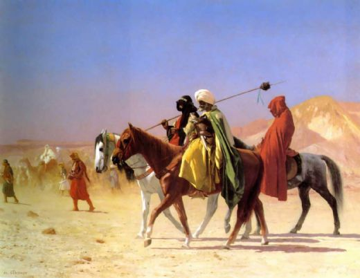 jean-leon gerome jean leon gerome arabs crossing the desert paintings