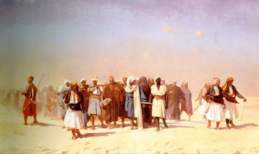 jean-leon gerome jean leon gerome egyptian recruits crossing the desert paintings