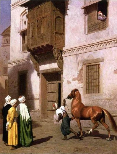 jean leon gerome horse merchant in cairo painting