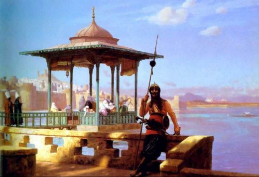 jean leon gerome the guardian of the seraglio painting