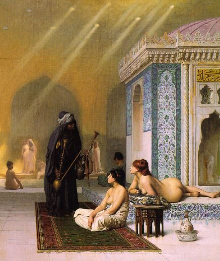 jean-leon gerome jean leon gerome the harem bath paintings
