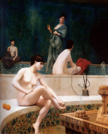 jean leon gerome the harem bathing painting