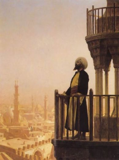 jean leon gerome the muezzin painting