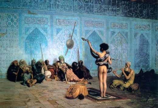 jean leon gerome the serpent charmer painting