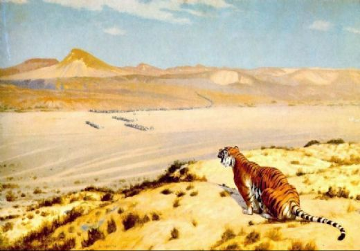 jean leon gerome tiger on the watch painting