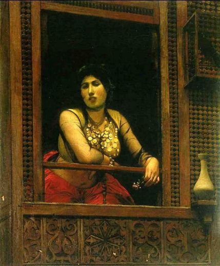jean-leon gerome jean leon gerome woman at her window paintings