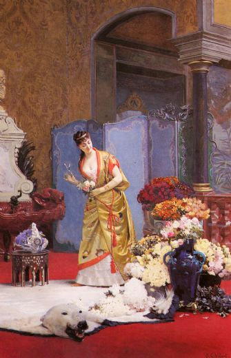 jehan georges vibert autumn flowers paintings